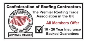 Logo to show Herkomer Roofing is a member of the Confederation of roofing contractors.