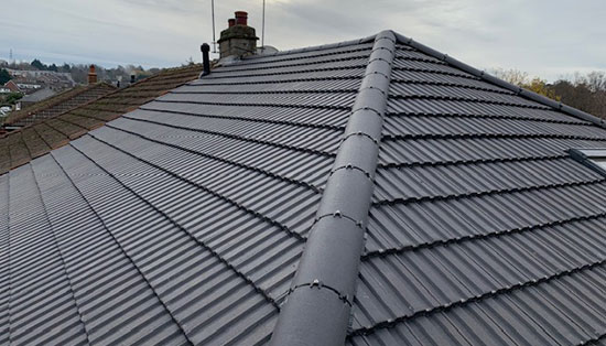 Re-roofing carried out in Bushey Hertfordshire.