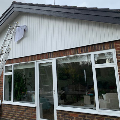 Fascias and soffits installation in Hertfordshire.